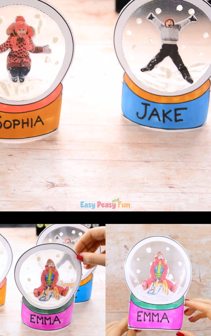 Photo of Photo Snow Globe Crafts for Children – Christmas Keepsake or Ornament – #F …