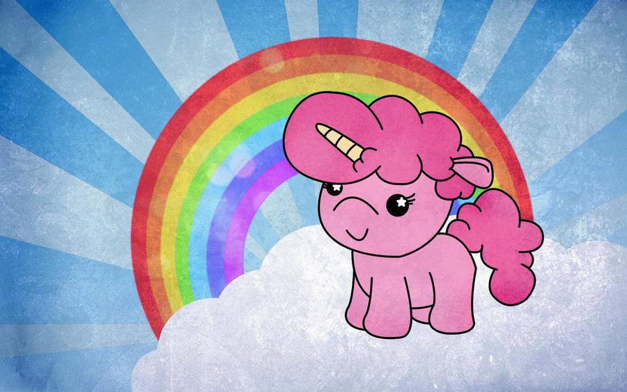 Pink Fluffy Unicorn Dancing On Rainbows By Rawrsheepy On Deviantart Criaturas Mitologicas Criatura Unicornio