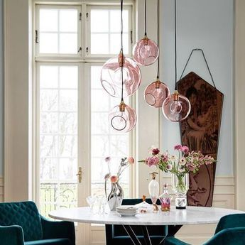 Suspension ballroom xl rose o32cm hcm design by us normal lampe