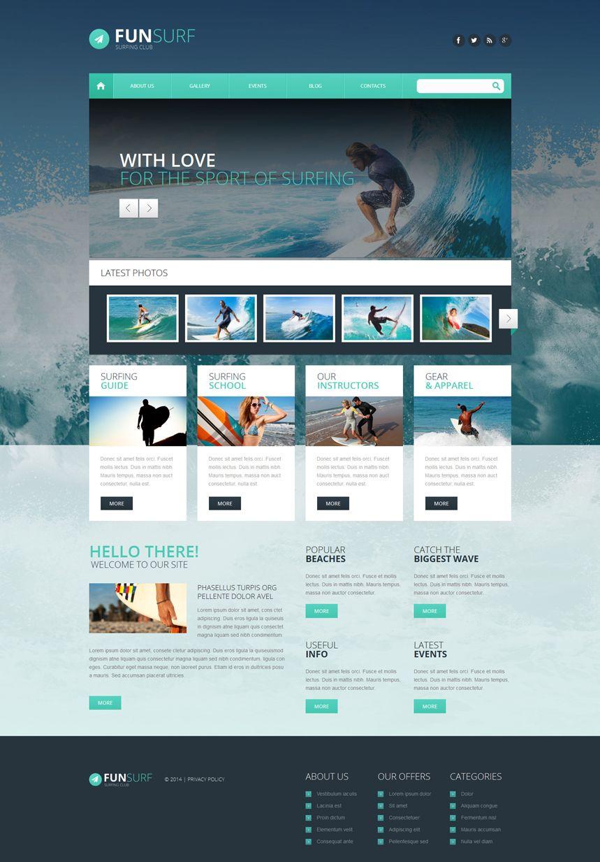 Fun Surf Wordpress Theme Responsive Wordpress Theme Blog Themes Wordpress