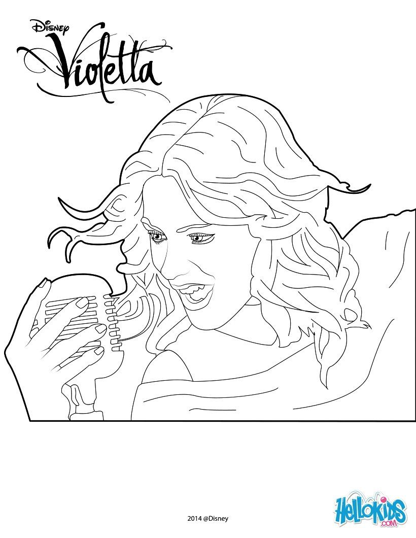 All little girls love violetta here a perfect coloring page for all