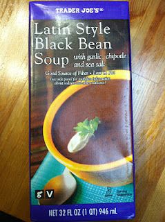 Trader Joe's Latin Style Black Bean Soup | Dinner | Black