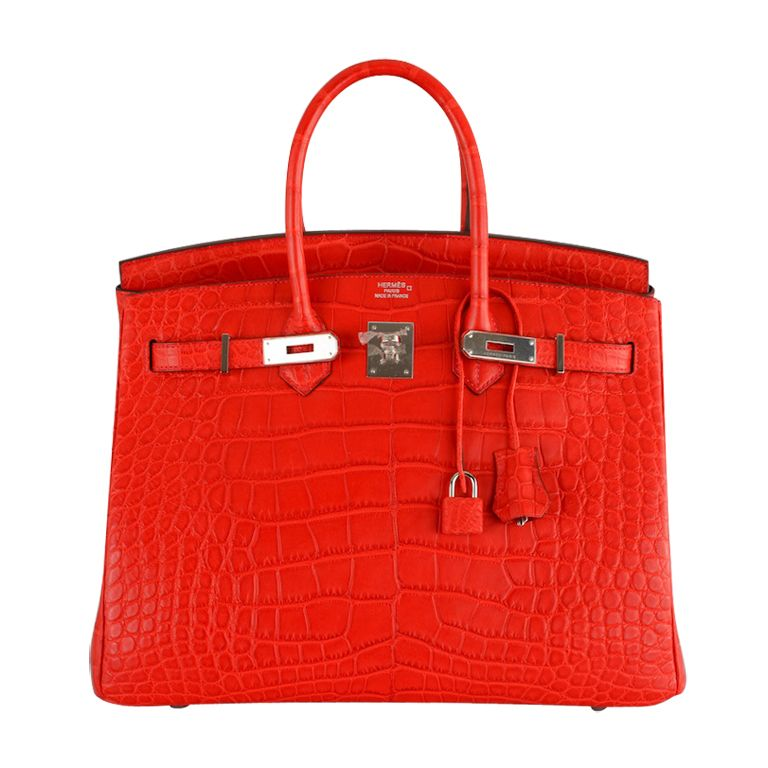 b4327f65c9 NEW COLOR HERMES BIRKIN BAG 35cm CROCODILE MATTE RED explore items from  1