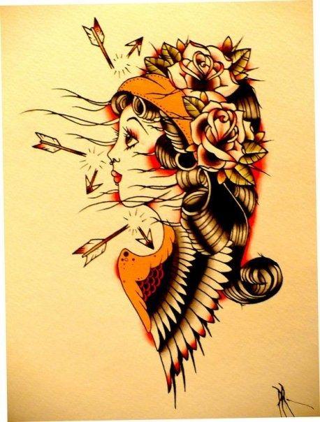 traditional tattoo illustration   Tattoos<3   Tattoos