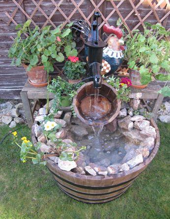 Wooden Water Features Wood Barrel Kent