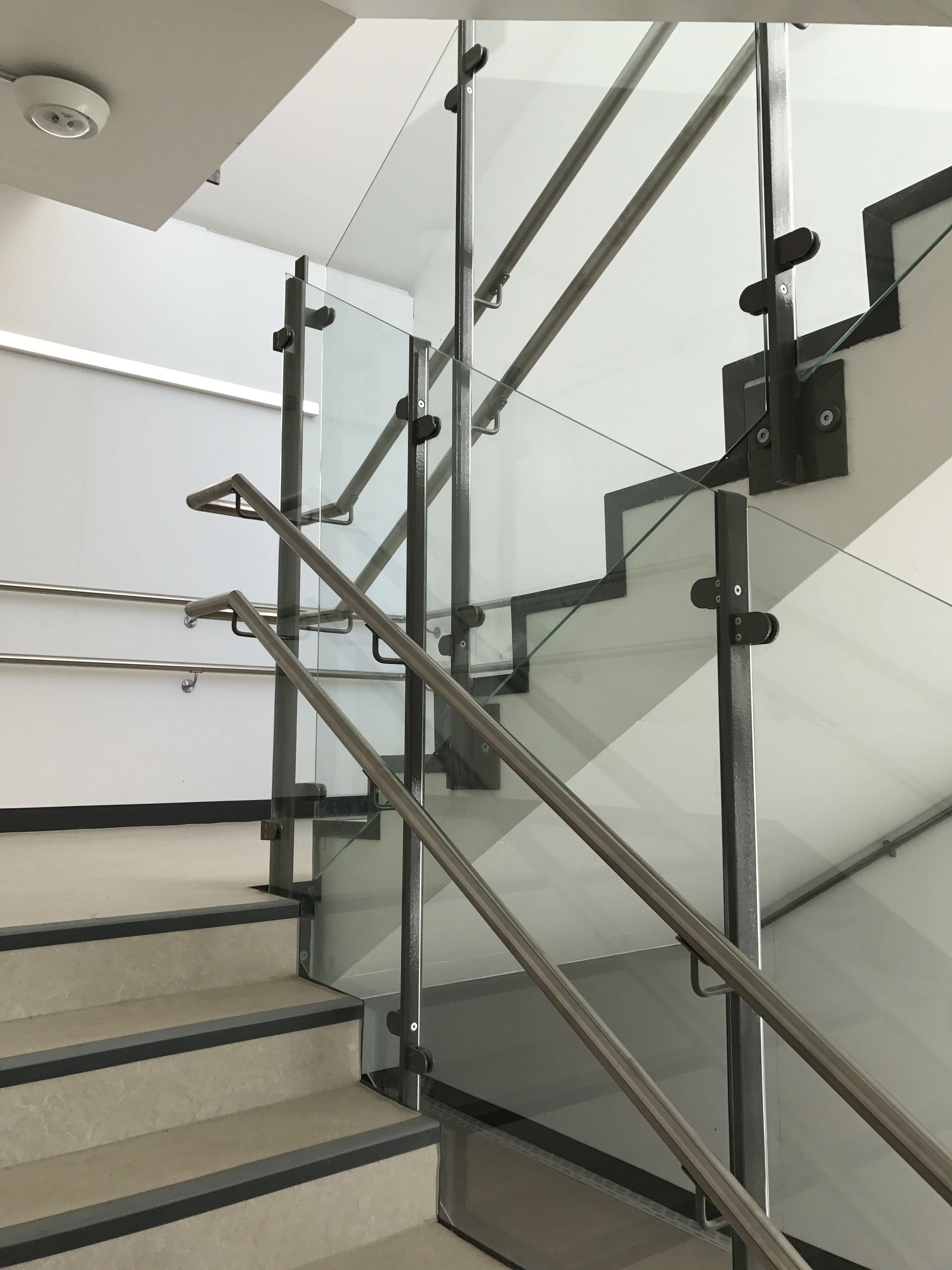Twin rail staircase balustrade design idea.