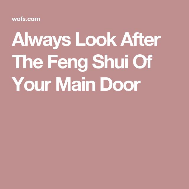 Feng Shui Wealth Corner Front Doors