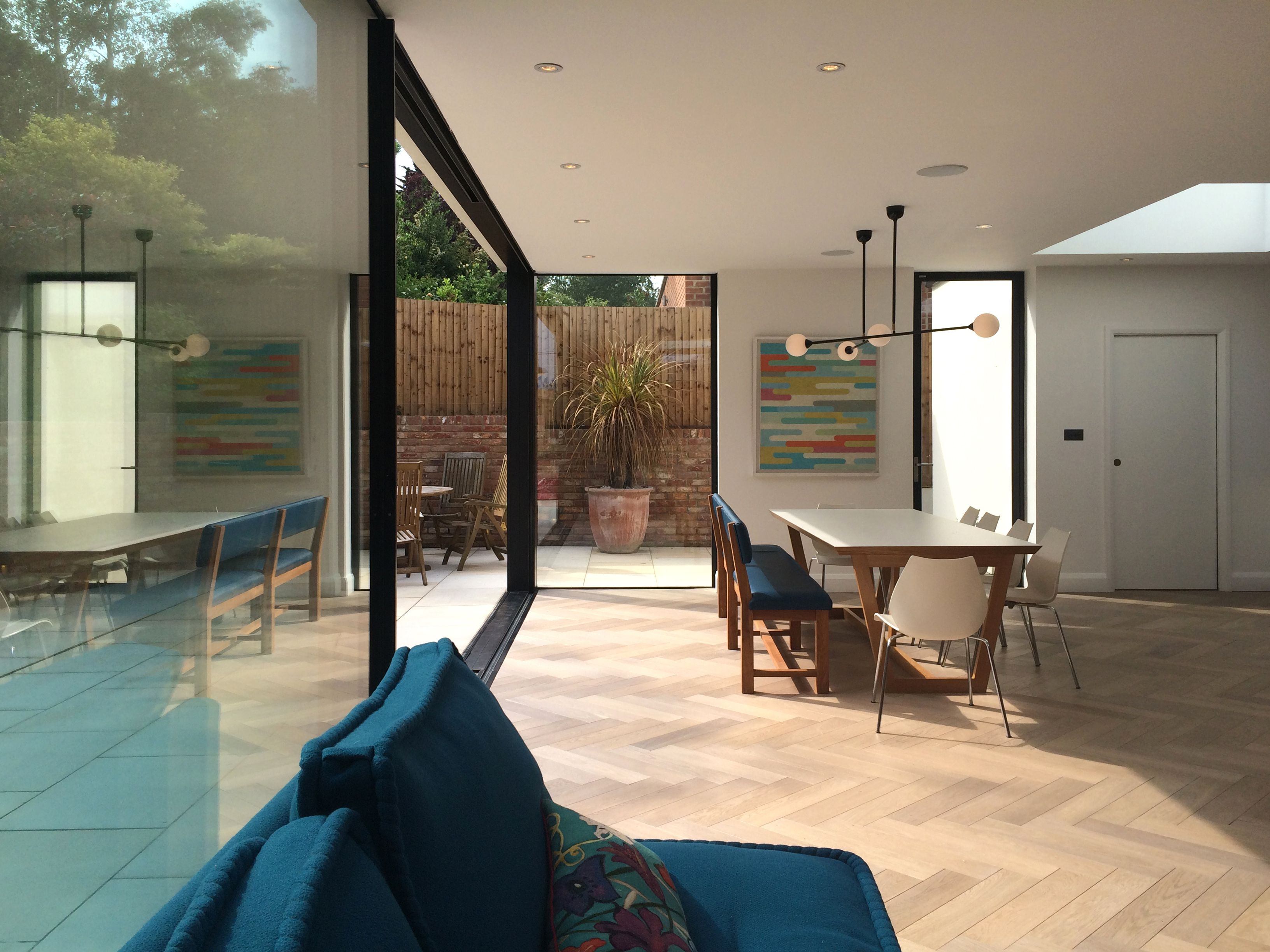 New Open Plan Living Spaces Flooded With Light Via Large