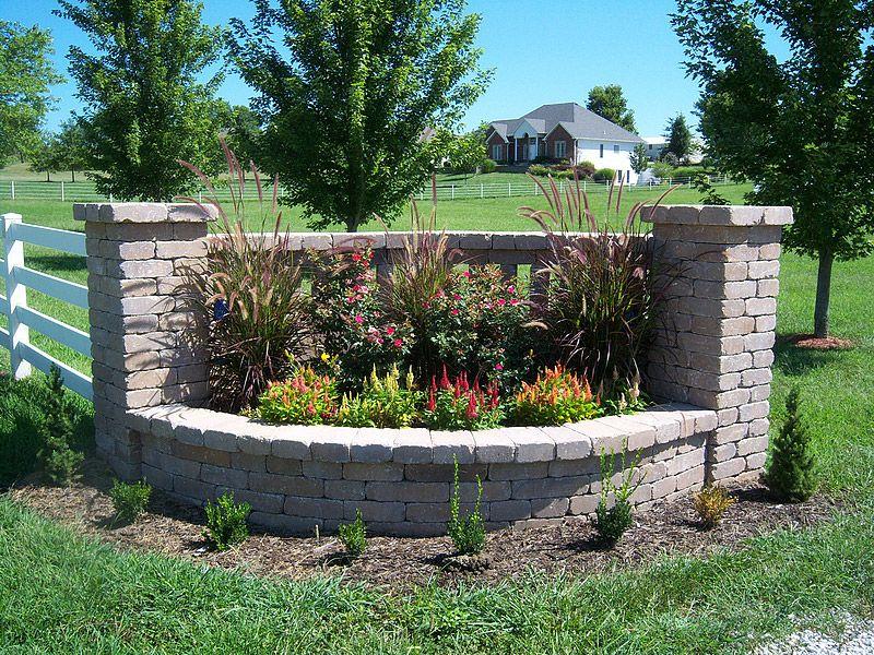Pictures Of Driveway Entrances Landscaping Indian Creek Walls Entrance Ideas