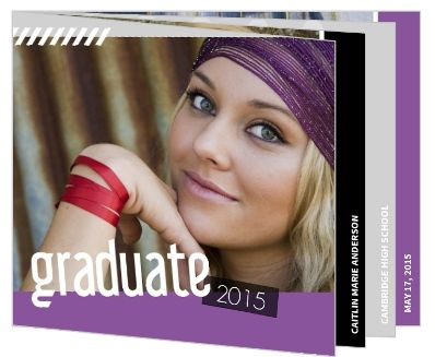 Fun Scrapbook Graduation Booklet Invitation by  InviteShop.com. #graduationinvitations #graduation #invitations #graduationpartyideas