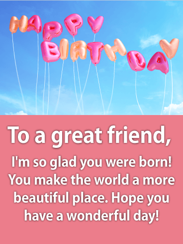 Fresh & Fun Happy Birthday Wishes Card for Friends: Send some ...