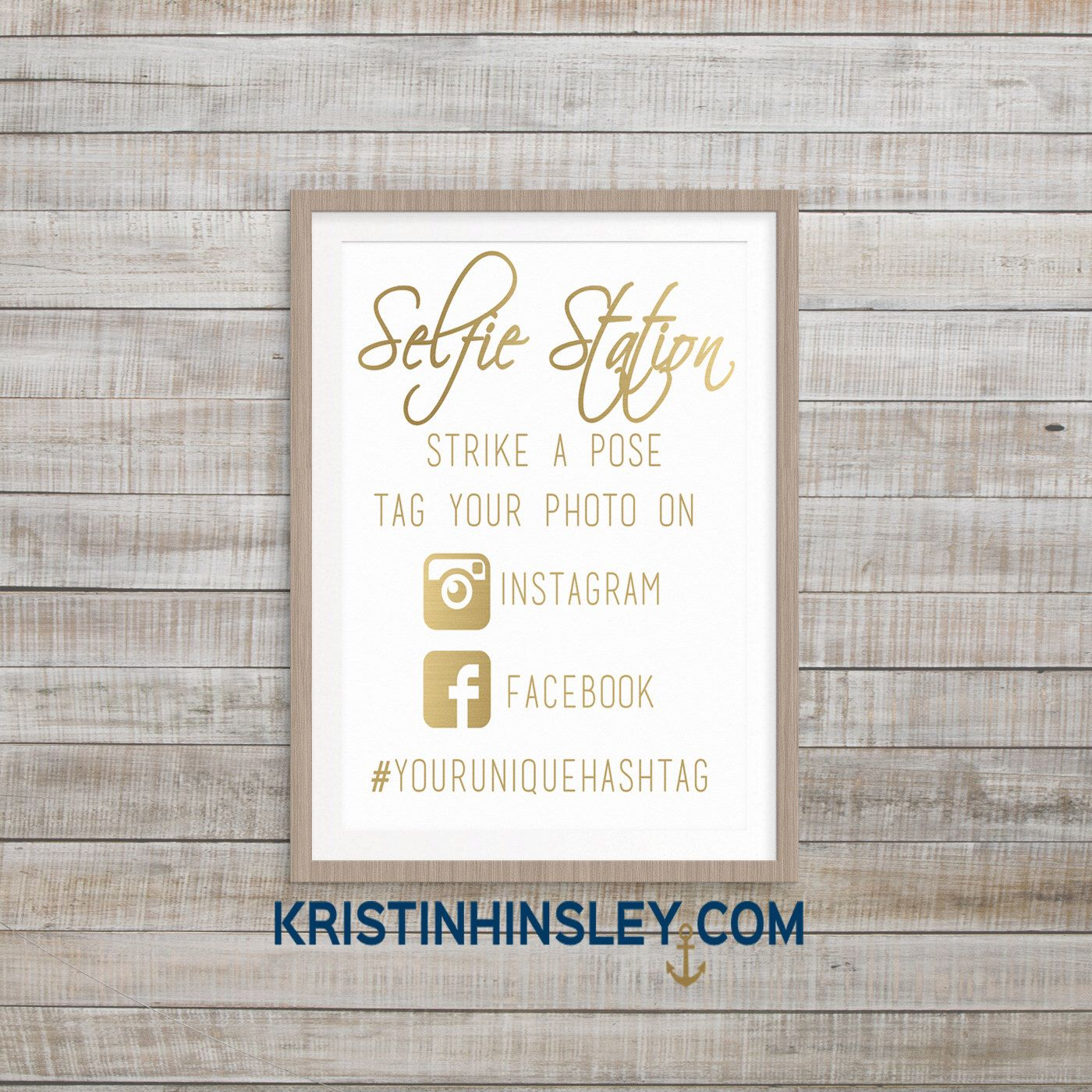 Selfie Station Photo Booth Printable Sign, Gold Foil printable sign,  Strike a Pose Instagram hashtag Wedding Reception Sign, Birthday Party by Kristinhinsley on Etsy https://www.etsy.com/listing/265563735/selfie-station-photo-booth-printable