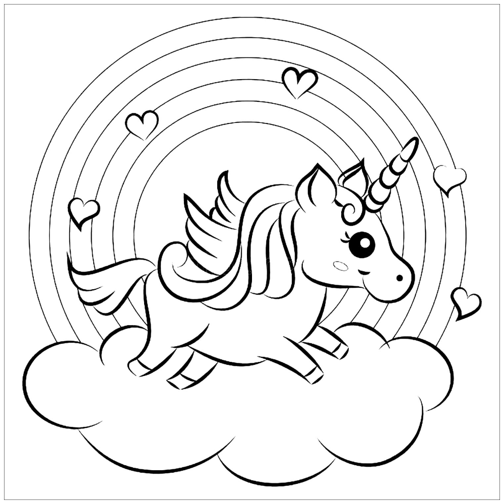 Unicorns free to color for kids Unicorns Coloring Pages