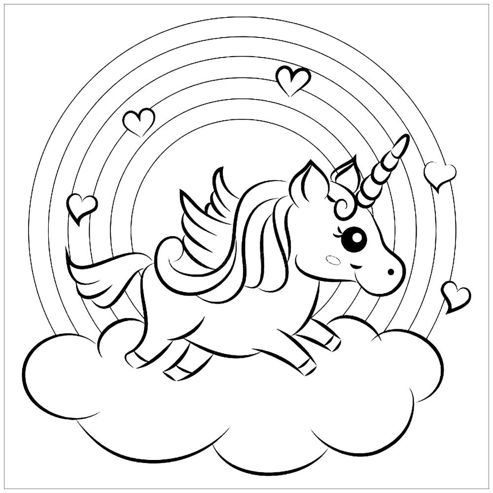 Unicorns Free To Color For Kids Unicorns Kids Coloring Pages Unicorn Coloring Pages Tractor Coloring Pages Animal Coloring Pages