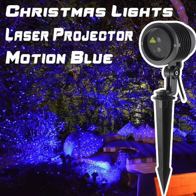 Motion Blue Christmas Outdoor Holiday Laser Lights Projector