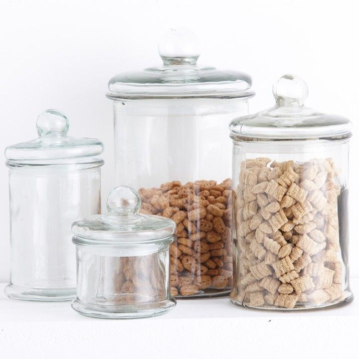 Glass storage Jars for the kitchen or bathroom Glass jars Gia