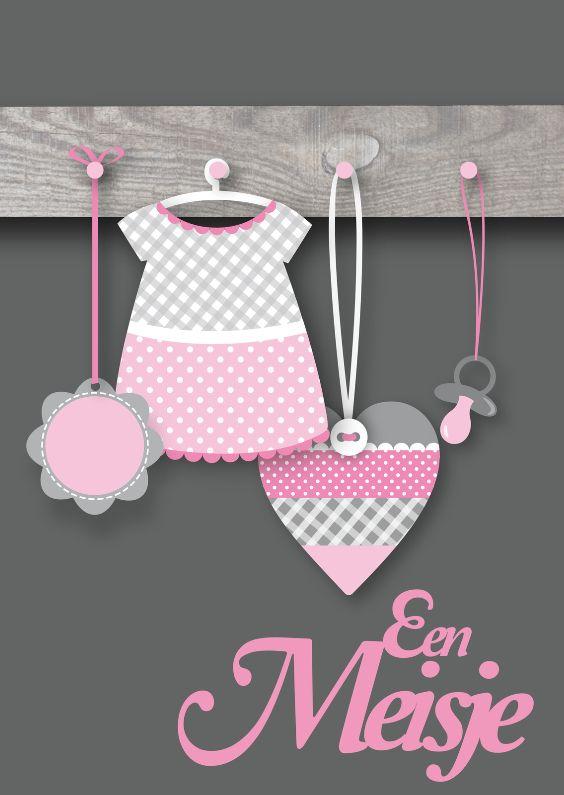Een meisje kapstokje geboorte gefeliciteerd en kaarten - Kantoor voor een klein meisje ...