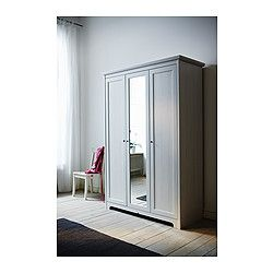 Aspelund ikea wardrobe with 3 doors white for Ikea article number