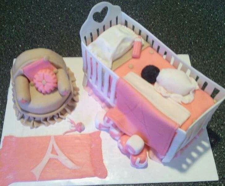 Baby crib cake | Louisville, KY | Coco's  Cakes Bakery 502-836-1707 | www.cocoscakesbakery.com
