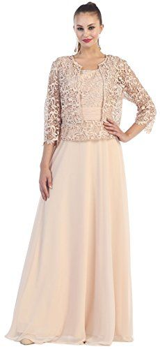 77ab02920ed May Queen MQ1288 34 Sleeve Mother Of The Bride Dress 3XL Champagne    Read  more at the image link.