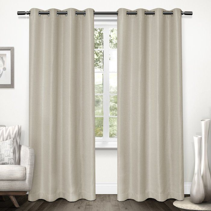 Stanton Solid Blackout Thermal Grommet Curtain Panels Panel