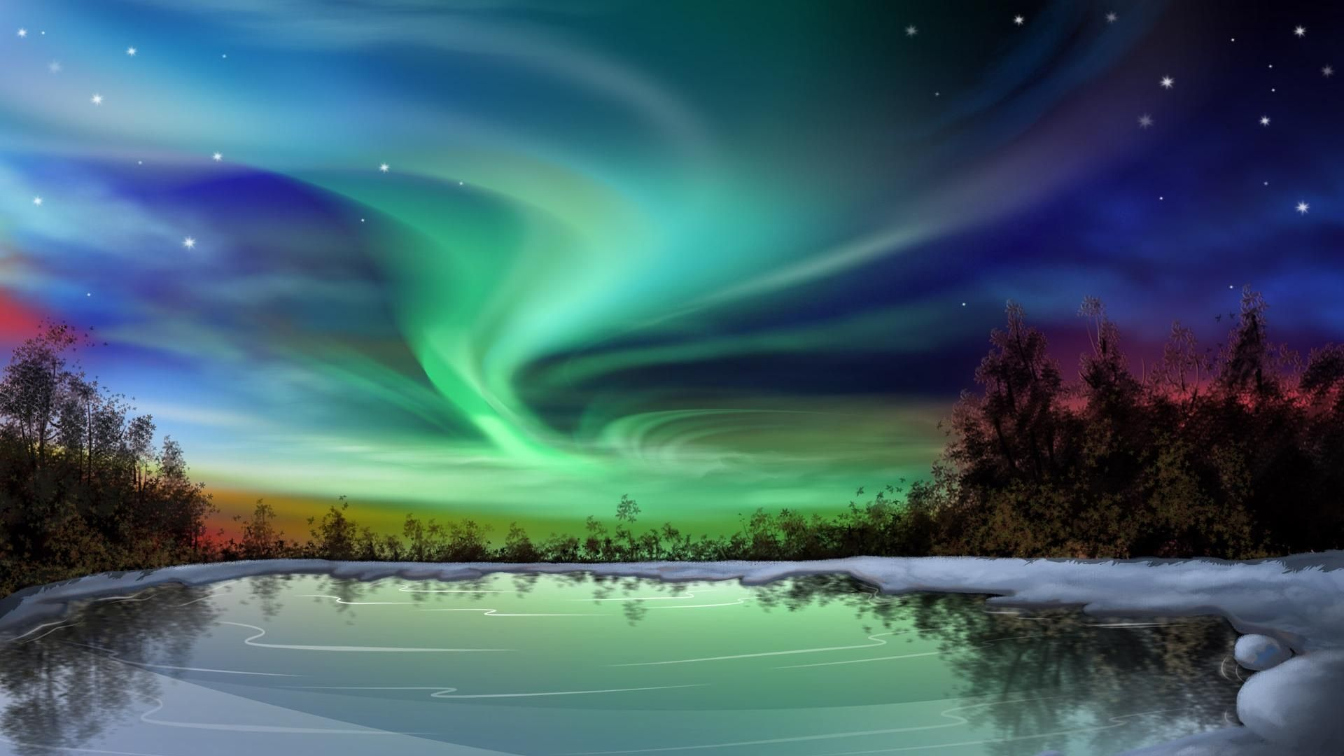 Aurora Borealis Wallpapers Sky Hd Wallpaper Northern Lights