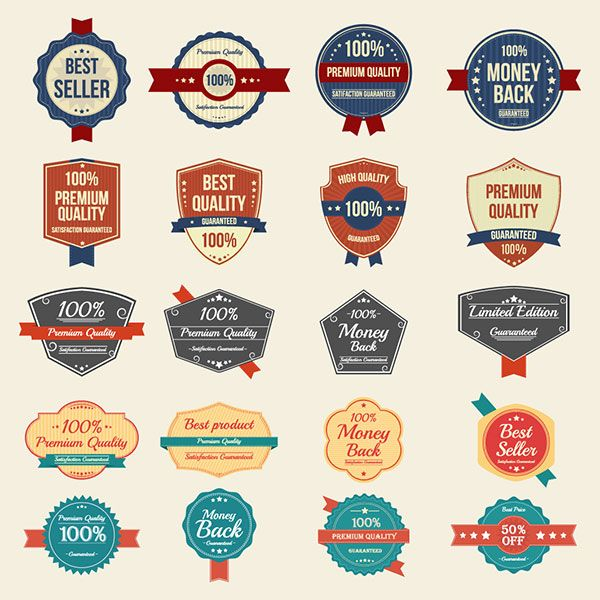 100 Free Vector Vintage Badges Stickers Stamps In Ai Eps Format Vector Free Badge Retro Logos