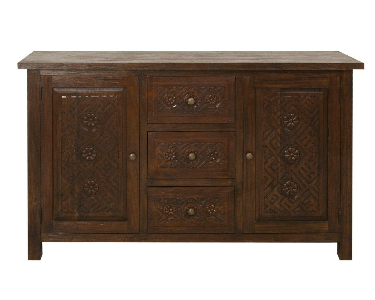 dark wood sideboard carved reclaimed teak sideboard colonial