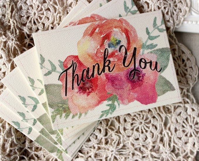 Watercolor Floral Thank You Notes | Sunshine and Ravioli