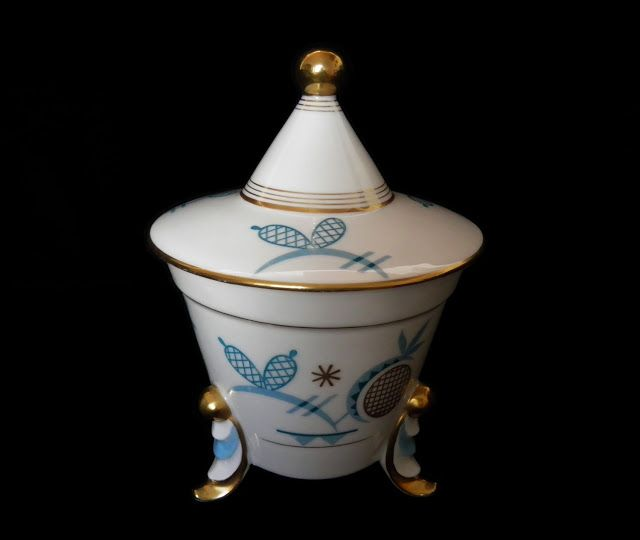 Art Deco porcelain box Eschenbach, Germany