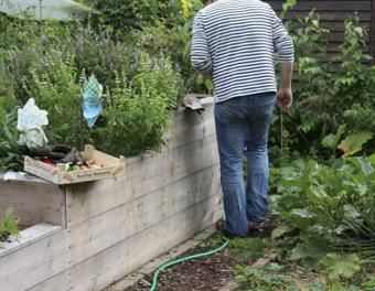 Hochbeet Aus Baudielen Garten Sagen Schrauben Hochbeet Aus Holz