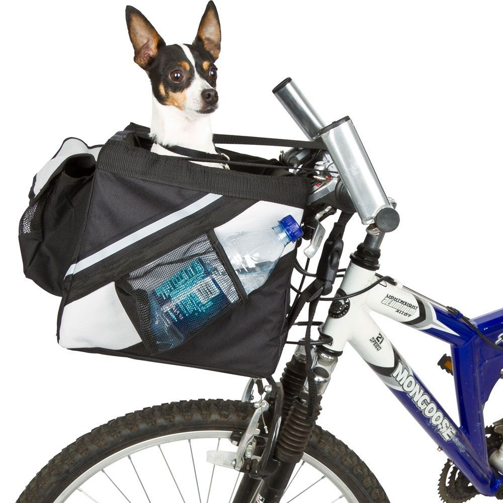 The Dog Bike Carrier is a stylish and safe way to bring