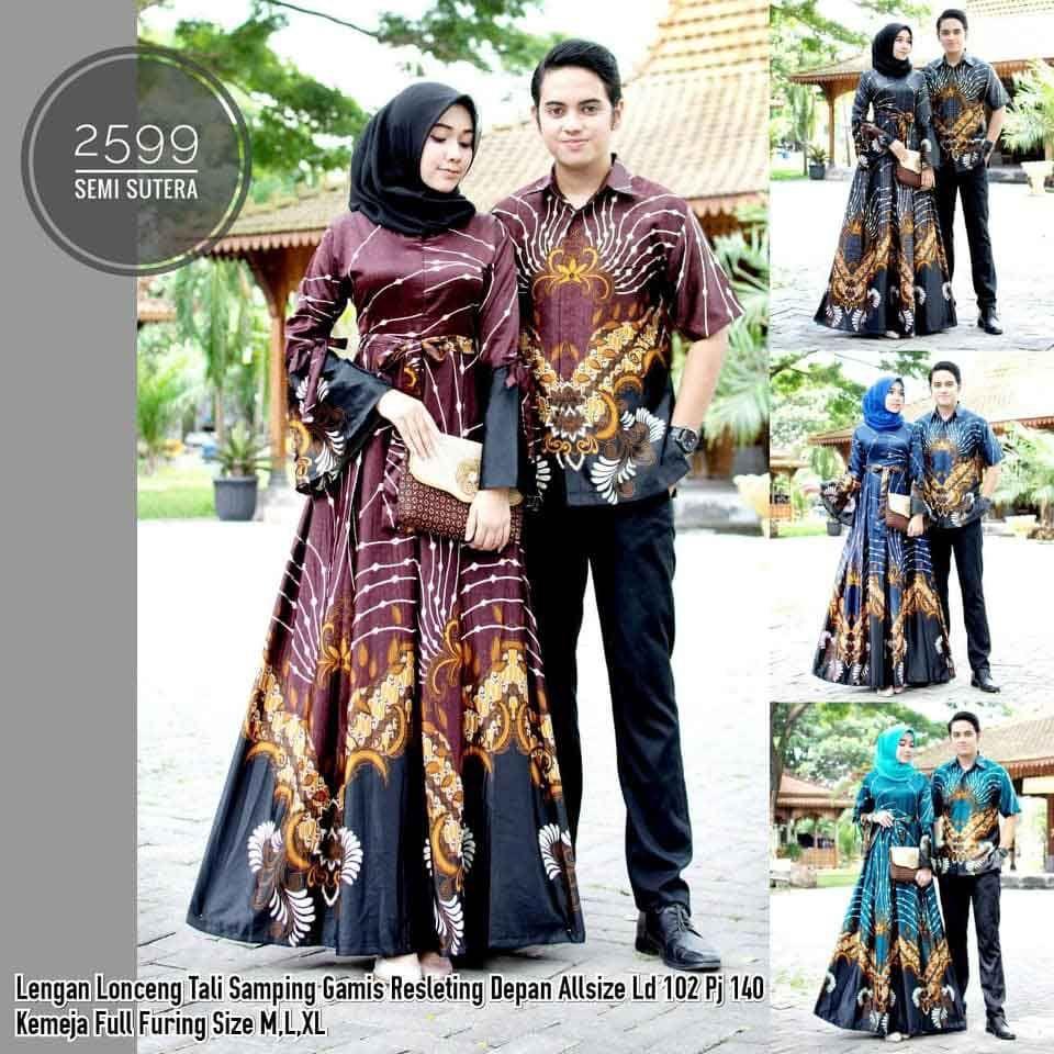 Toko Batik Solo Online Terpercaya Model Baju Batik Couple Gamis