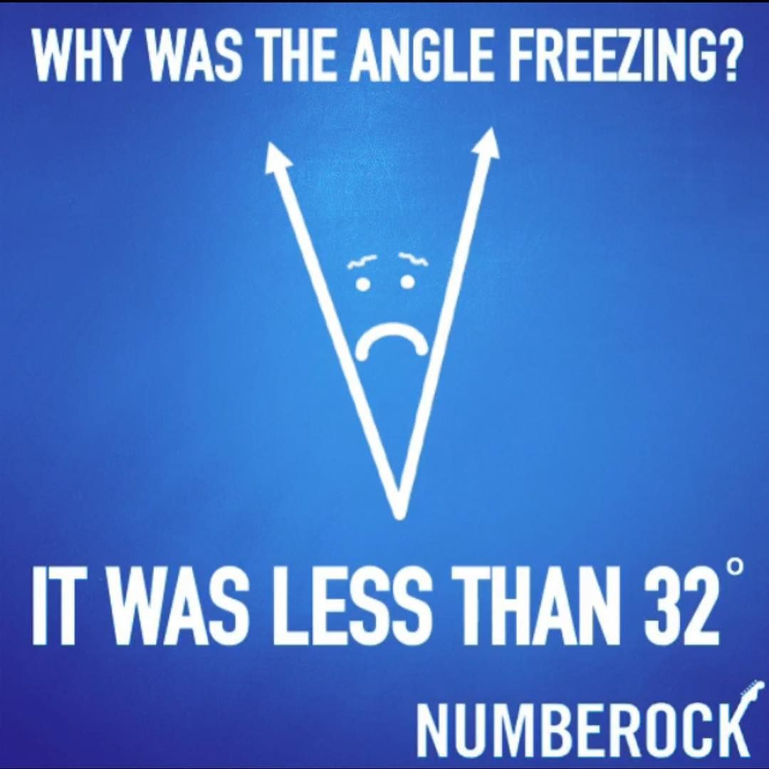 Funny Math Joke Why Was The Angle Freezing Funny Jokes