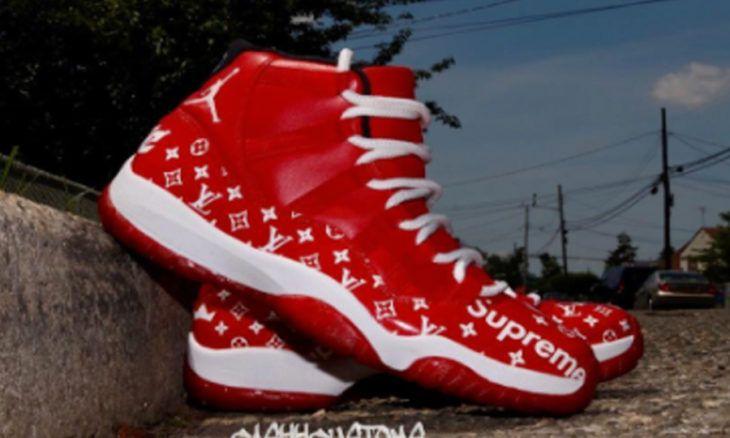 Custom LV X Supreme Air Jordan 11 Kicks