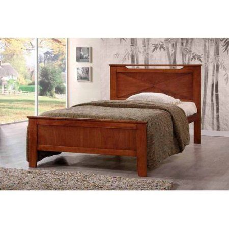 Demitasse Brown Wood Contemporary Full-Size Bed
