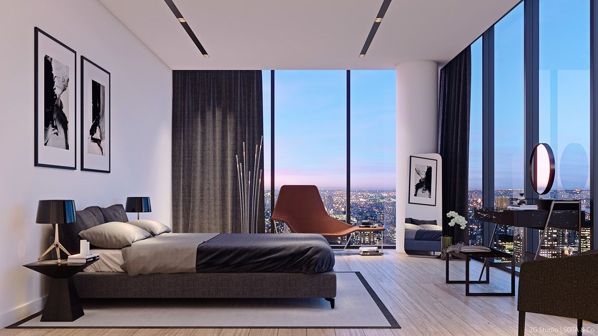 cool modern luxury penthouse living room | Luxurious & Inspiring Penthouses | Dormitor/Bedroom | Pent ...