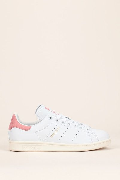 110€ ADIDAS ORIGINALS Sneakers cuir blanc talon rose Stan Smith ... 747af0723549