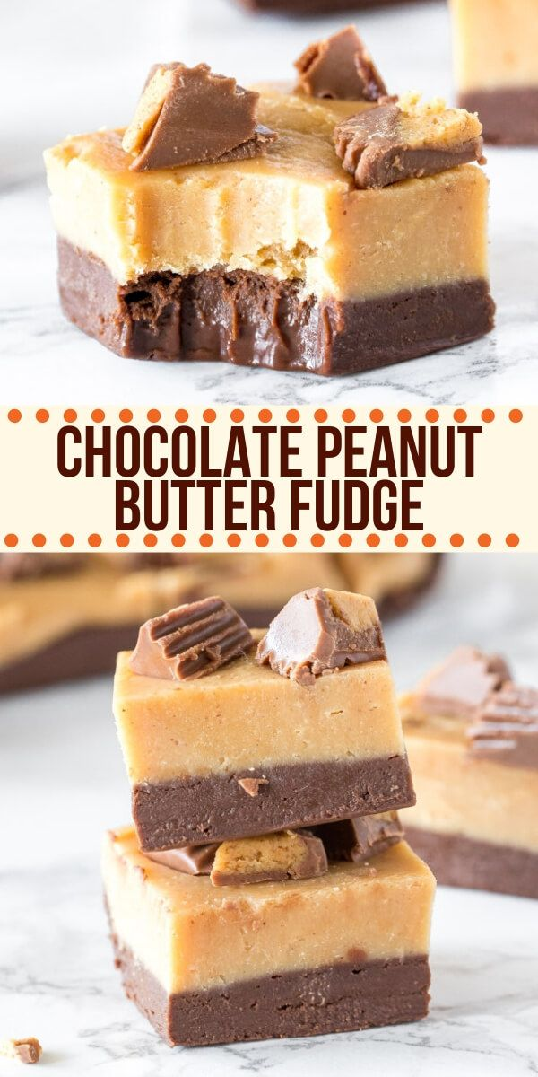 Chocolate Peanut Butter Fudge - AKA Buckeye Fudge