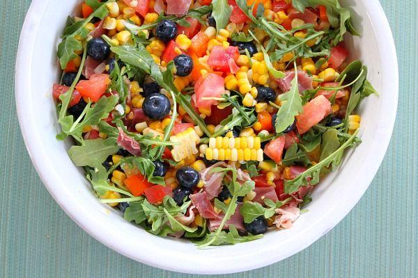 Blueberry- Corn Salad with Prosciutto
