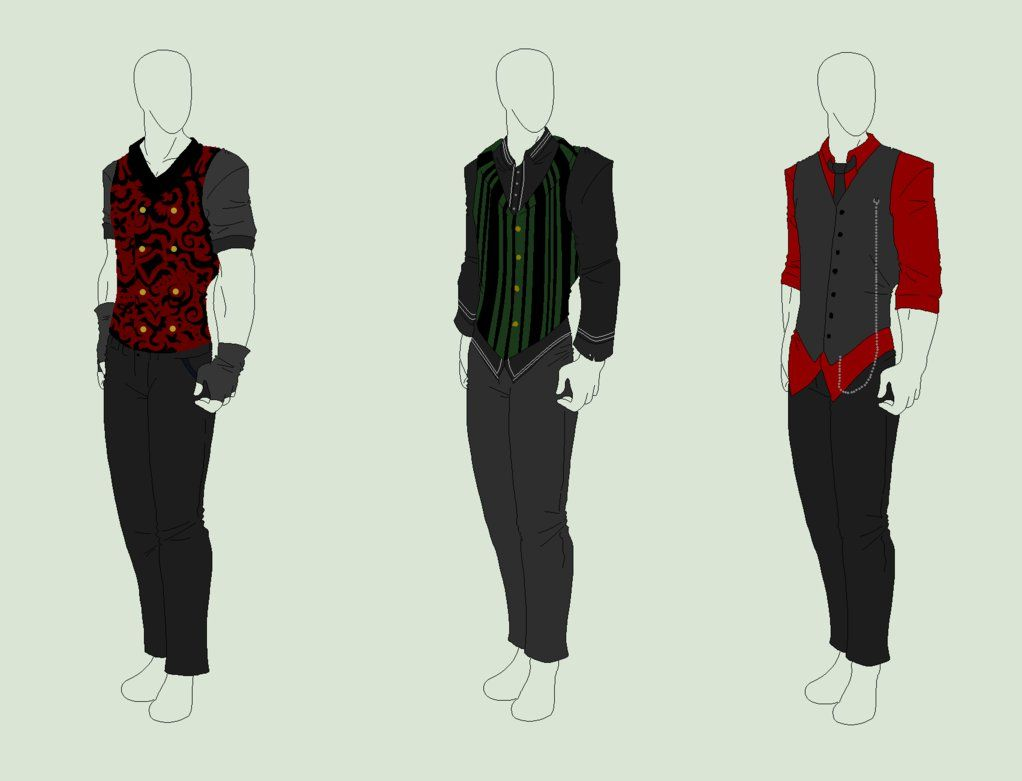 Outfit Adopts 3 Pack - Gentleman Waistcoats - SOLD By ShadowInkAdopts On DeviantArt | Designs I ...