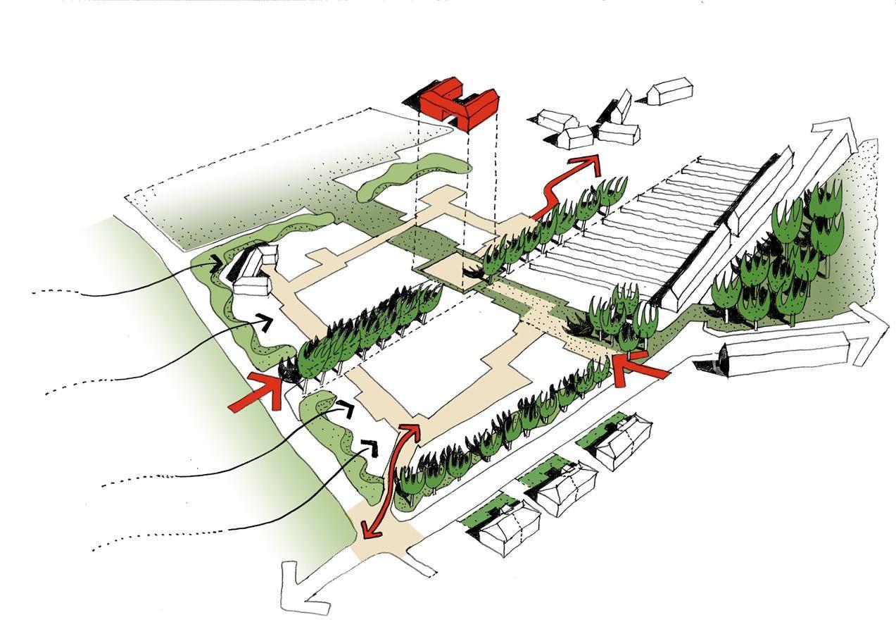 Concept sketch main access routes urban design pinterest architecture ccuart Images