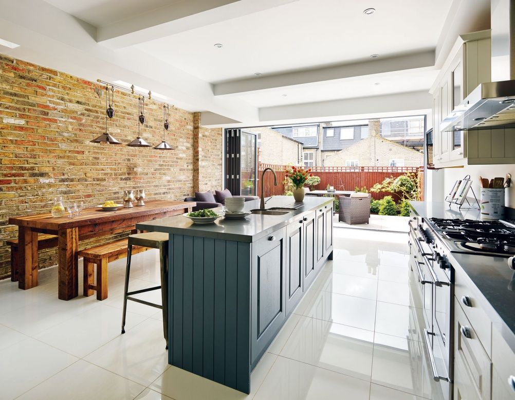 Converting two victorian flats into a family home real for Kitchen ideas victorian terrace