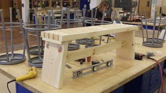 4 H Bench Woodworking Plan Woodworking Pinterest Woodworking
