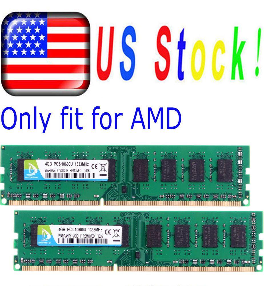 8GB 2x 4GB 2Rx4 DDR3 1333Mhz PC3-10600 Memory Desktop RAM 8