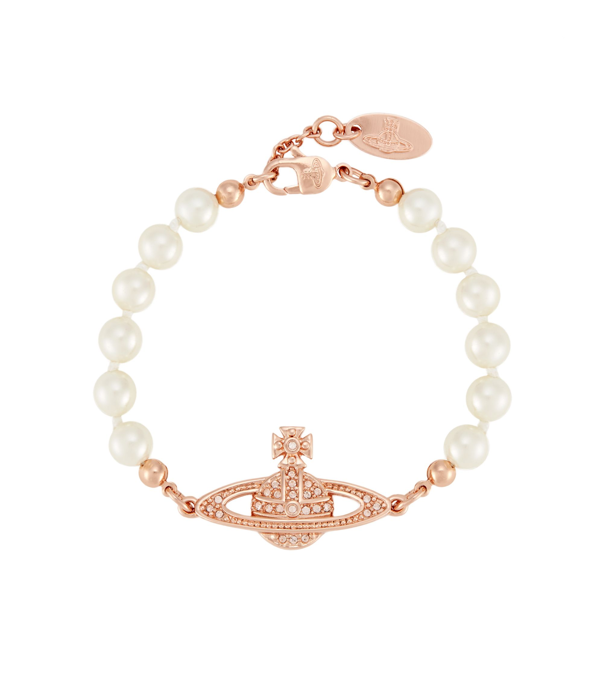Mini bas relief pearl bracelet rose gold gifting for sweet little