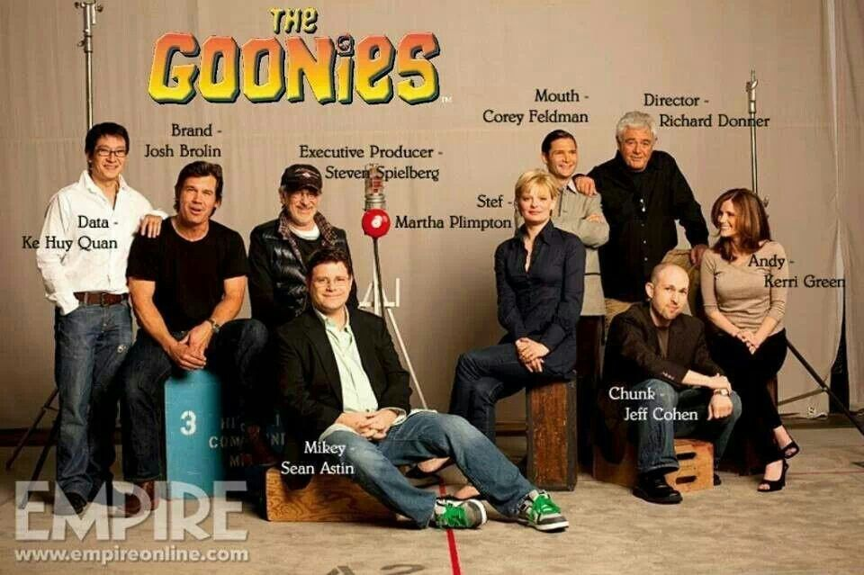 The Goonies today and all grown up!