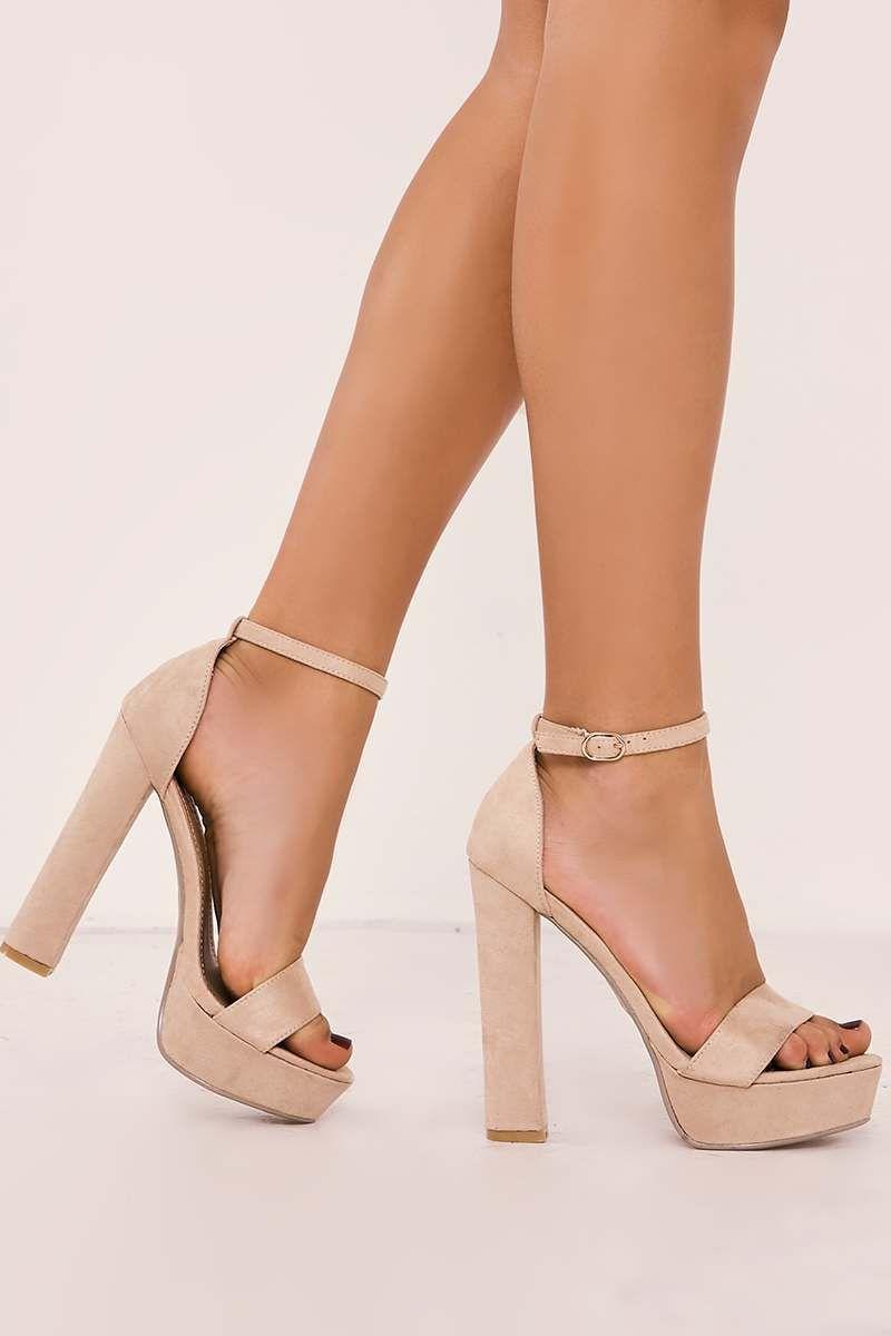 9ad74ced0 Sofiya nude faux suede platform heels in 2019 | Moda | Shoes, Heels ...
