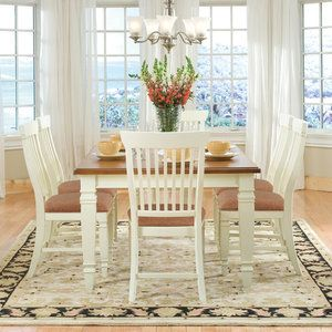 Cochrane Furniture Cafe Xpress Farmhouse Leg Dining Table