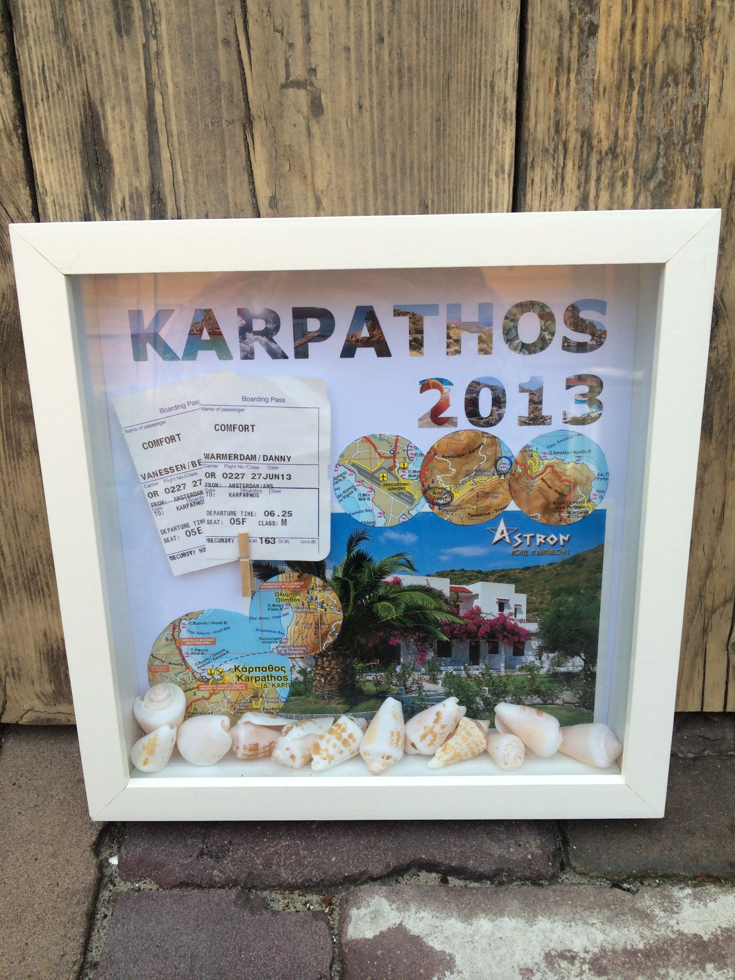 Souvenir frame from our own vacation! Karpathos, Greece ...